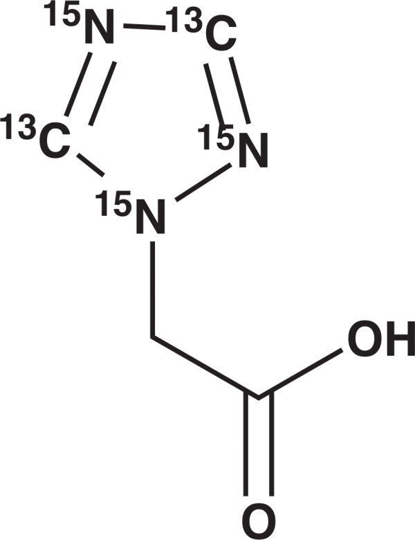 Triazole-[13C2, 15N3] Acetic Acid