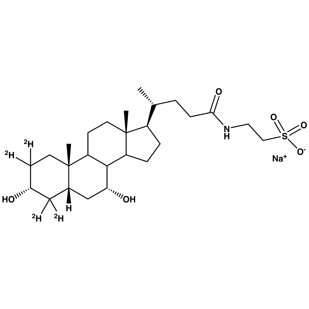 Taurochenodeoxycholic Acid-[d4] Sodium Salt