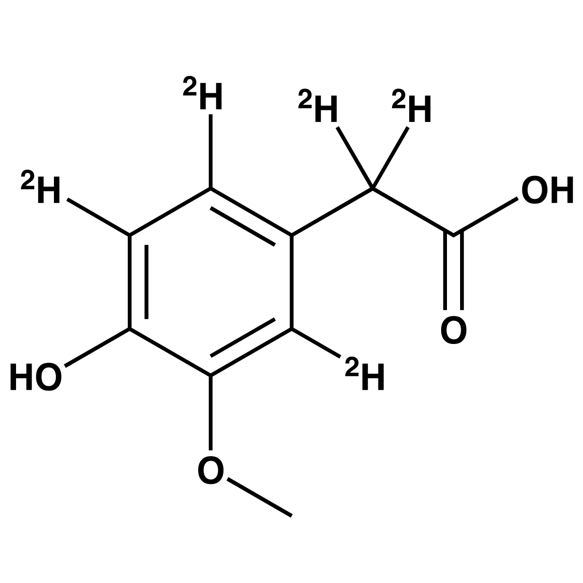 Homovanillic Acid-[d5] (HVA-d5) (Solution) - IsoSciences